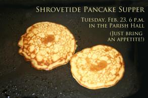 2012 Shrove Tuesday Pankcake Supper