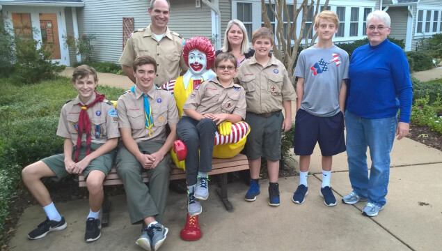 Volunteers at the Ronald McDonald's House